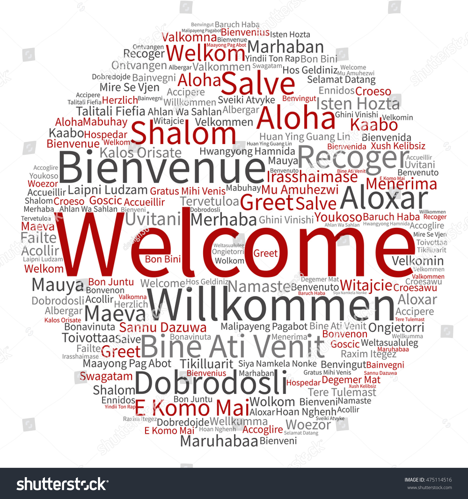 Concept Abstract Round Welcome Greeting International Stock