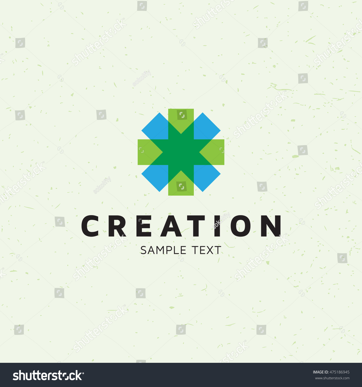 creation star cross logo template abstract stock vector royalty
