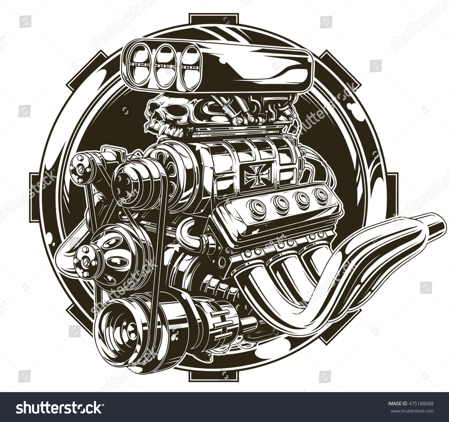 Vector Illustration Cool Detailed Hot Road Stock Vector