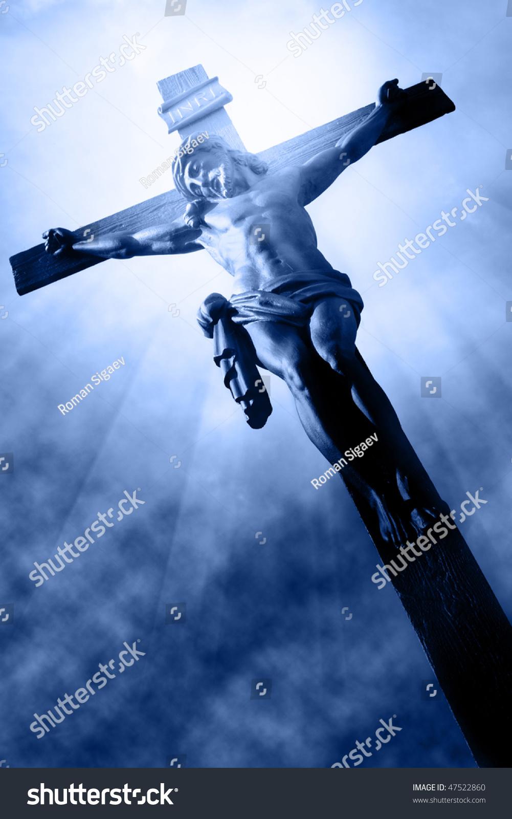 crucifixion jesus on cross stock photo 47522860 shutterstock