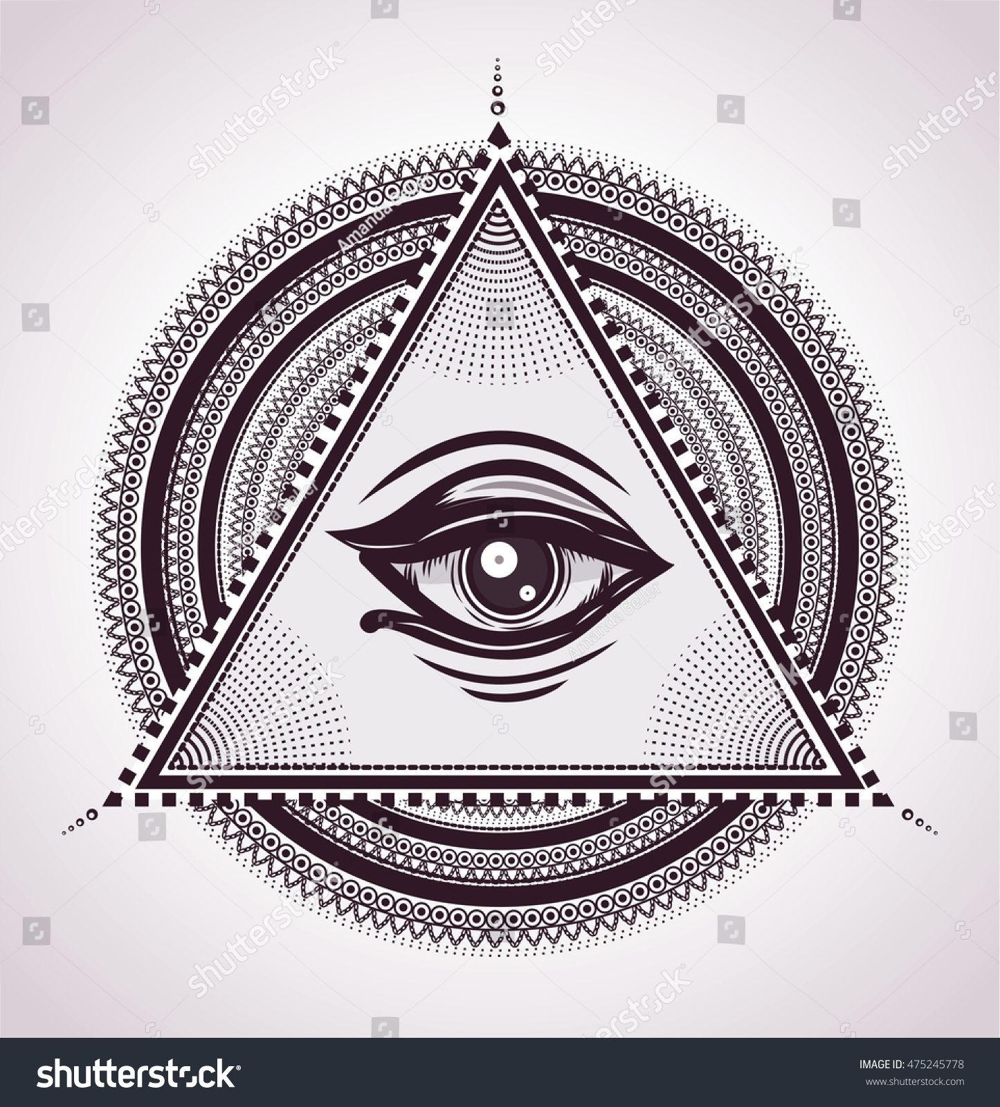 All Seeing Eye Pyramid Symbol New Stock Vector Royalty Free
