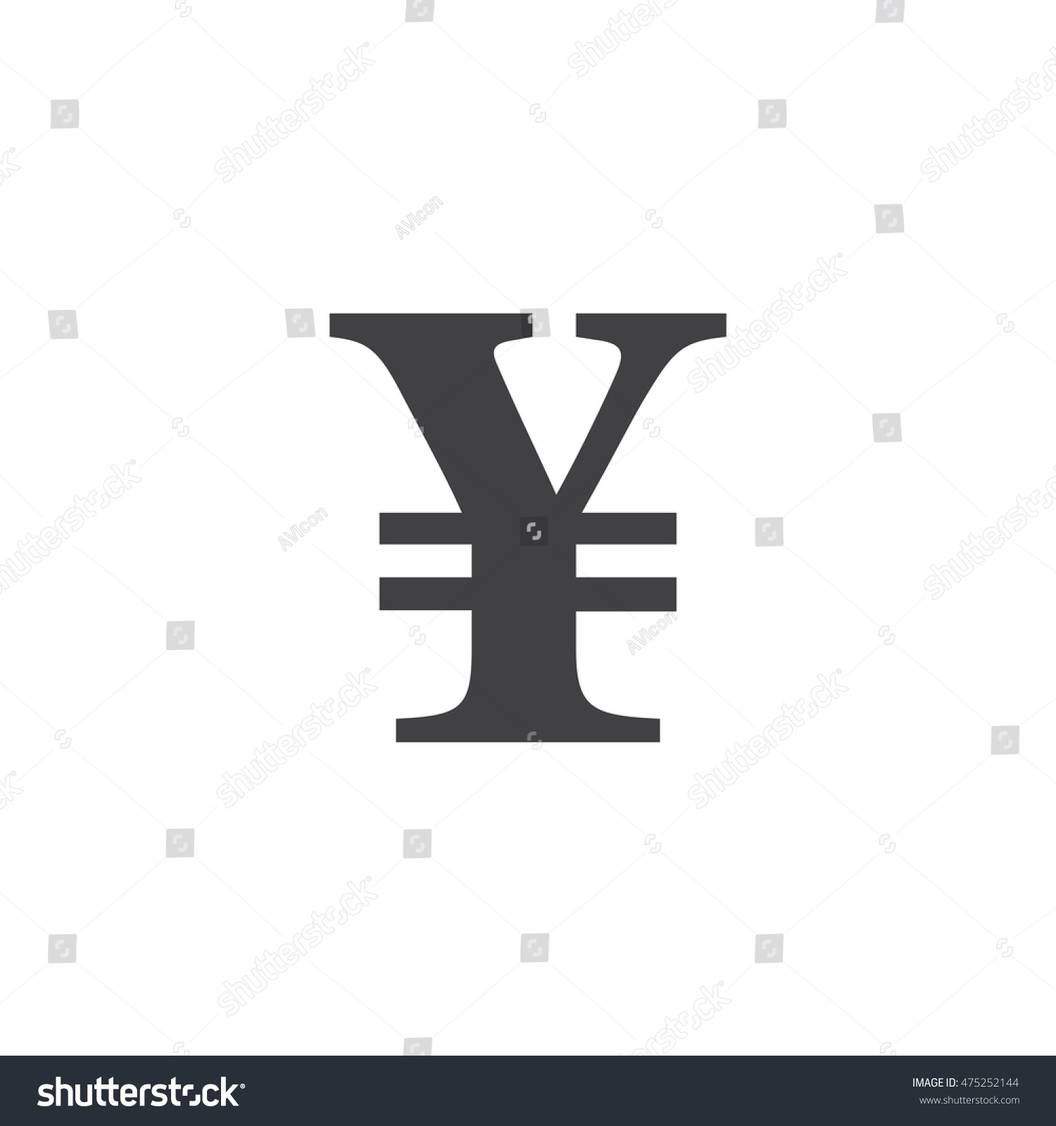Japanese yen symbol vector sign solid stock vector 475252144 japanese yen symbol vector sign solid logo illustration pictogram isolated on white biocorpaavc Choice Image