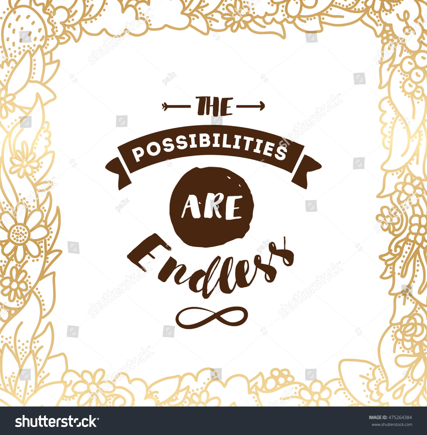 Set 36 Greeting Cards Inspirational Quotes Stock Vector Royalty
