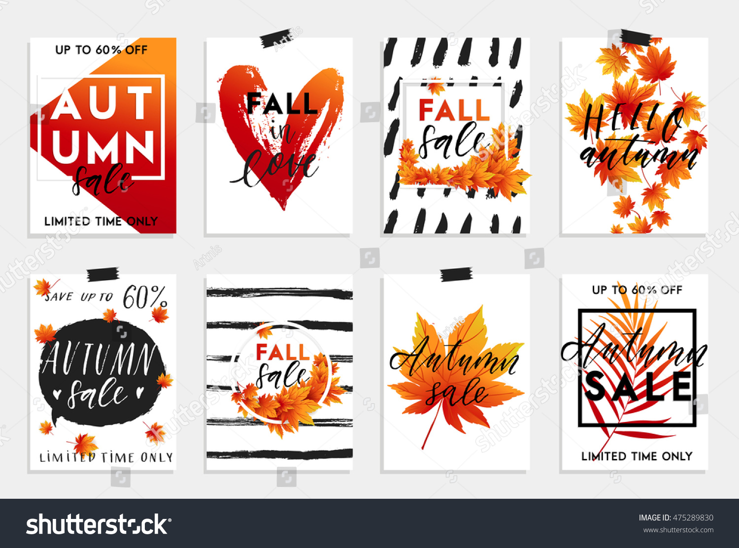 collection autumn other typography flyer stock vector collection of autumn and other typography flyer template lettering bright fall leaves