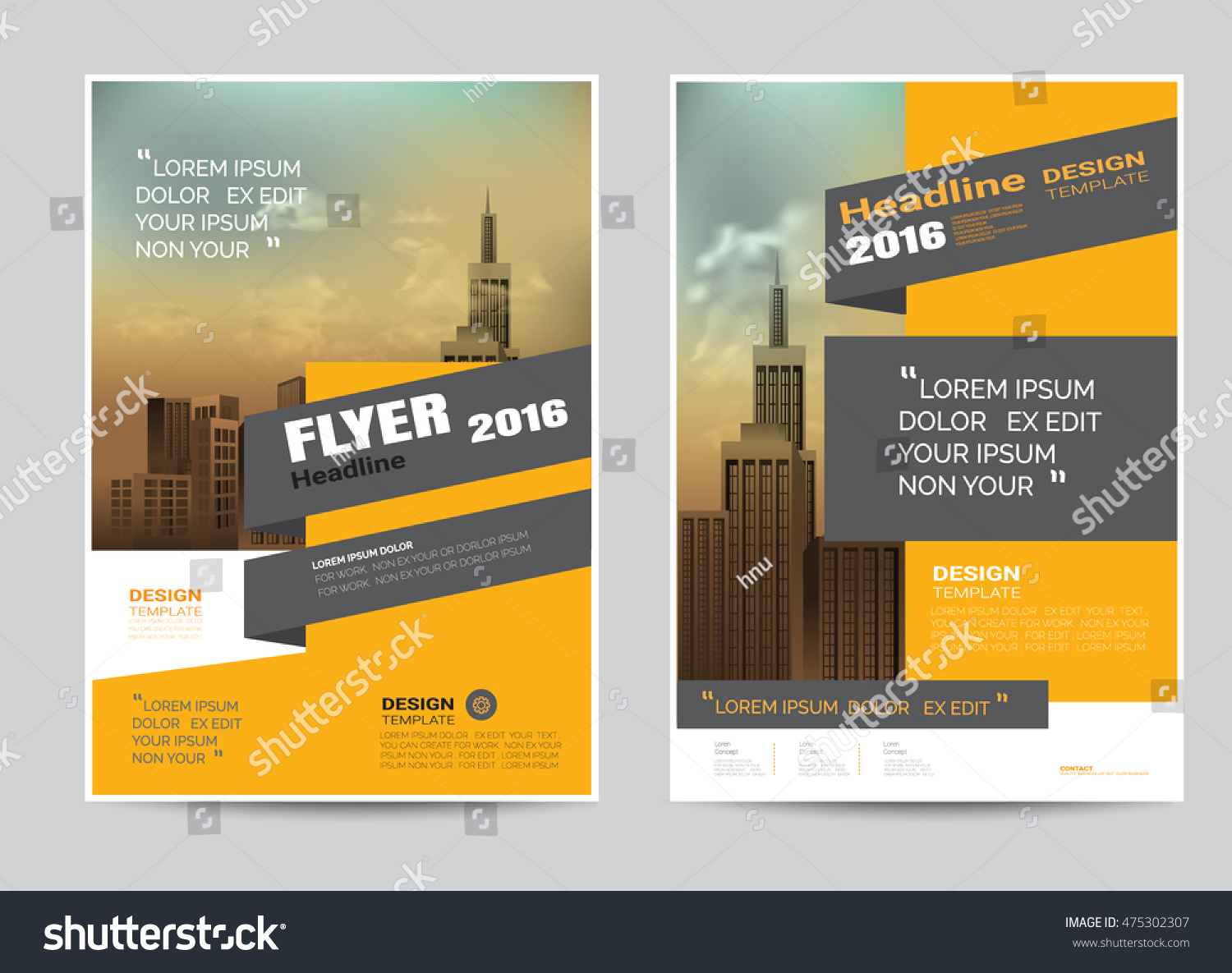 corporate brochure flyer design layout template stock vector corporate brochure flyer design layout template in a4 size modern style vector