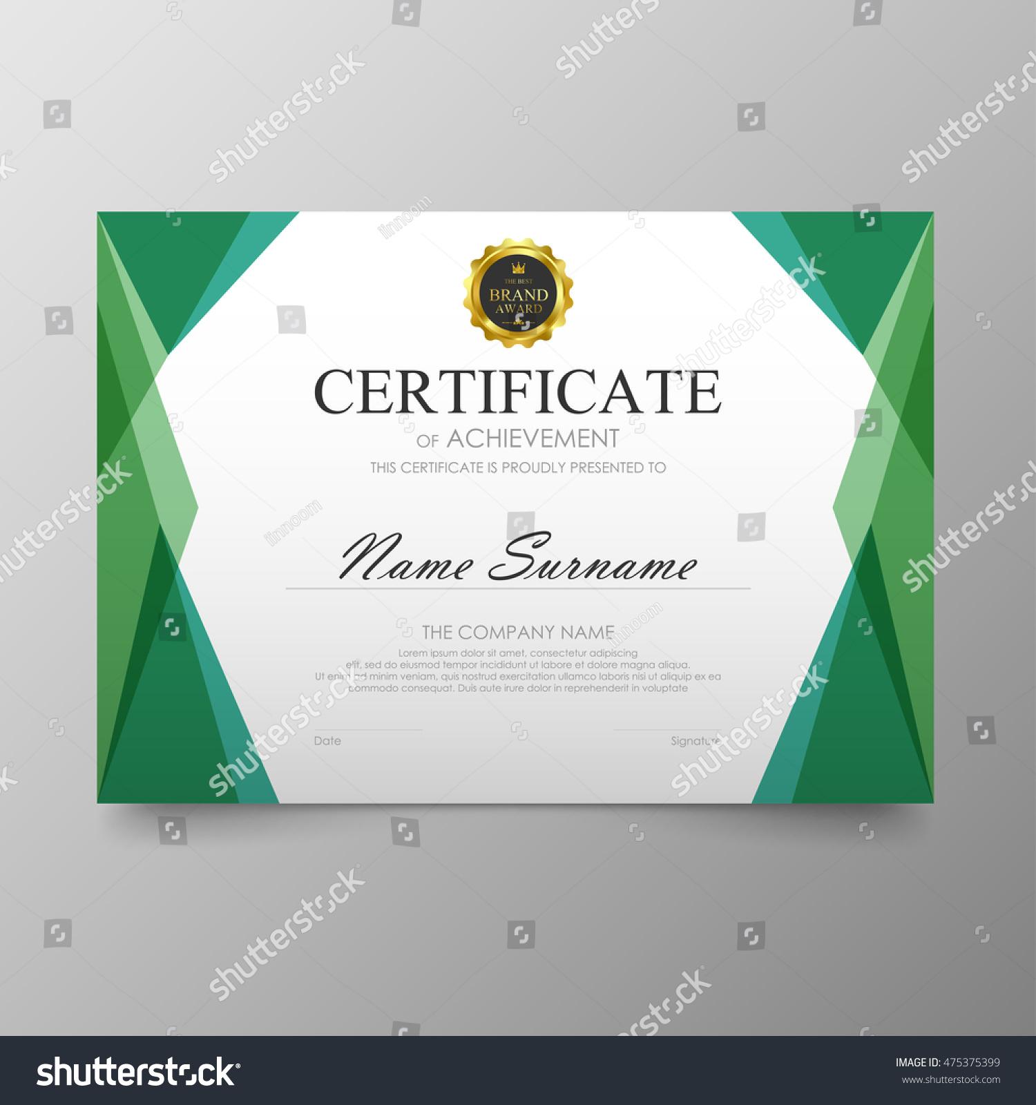 College Graduation Certificate Template