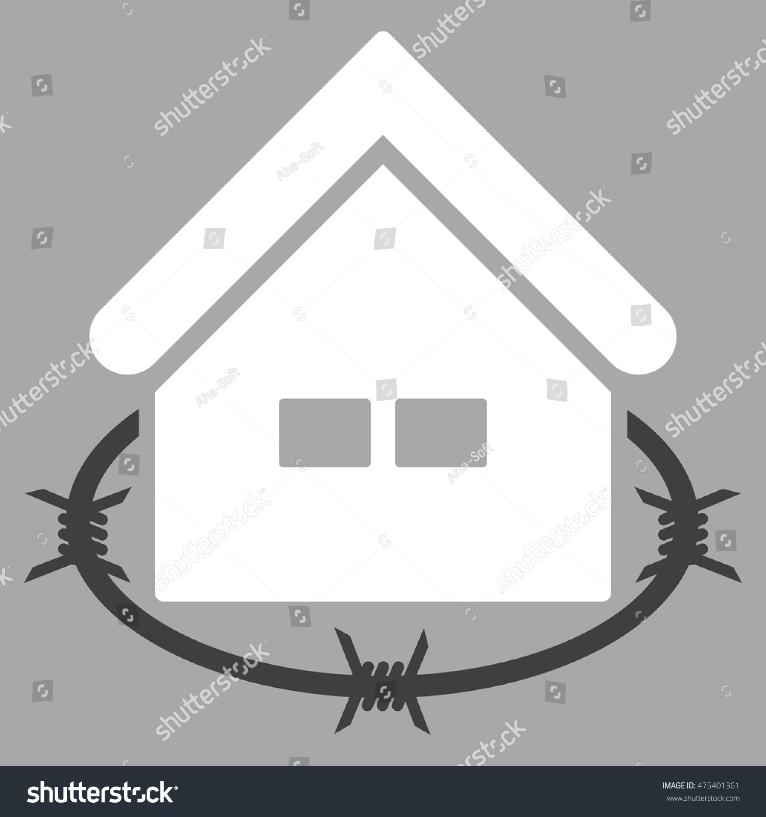 Prison Building Icon Vector Style Flat Stock Vector 475401361