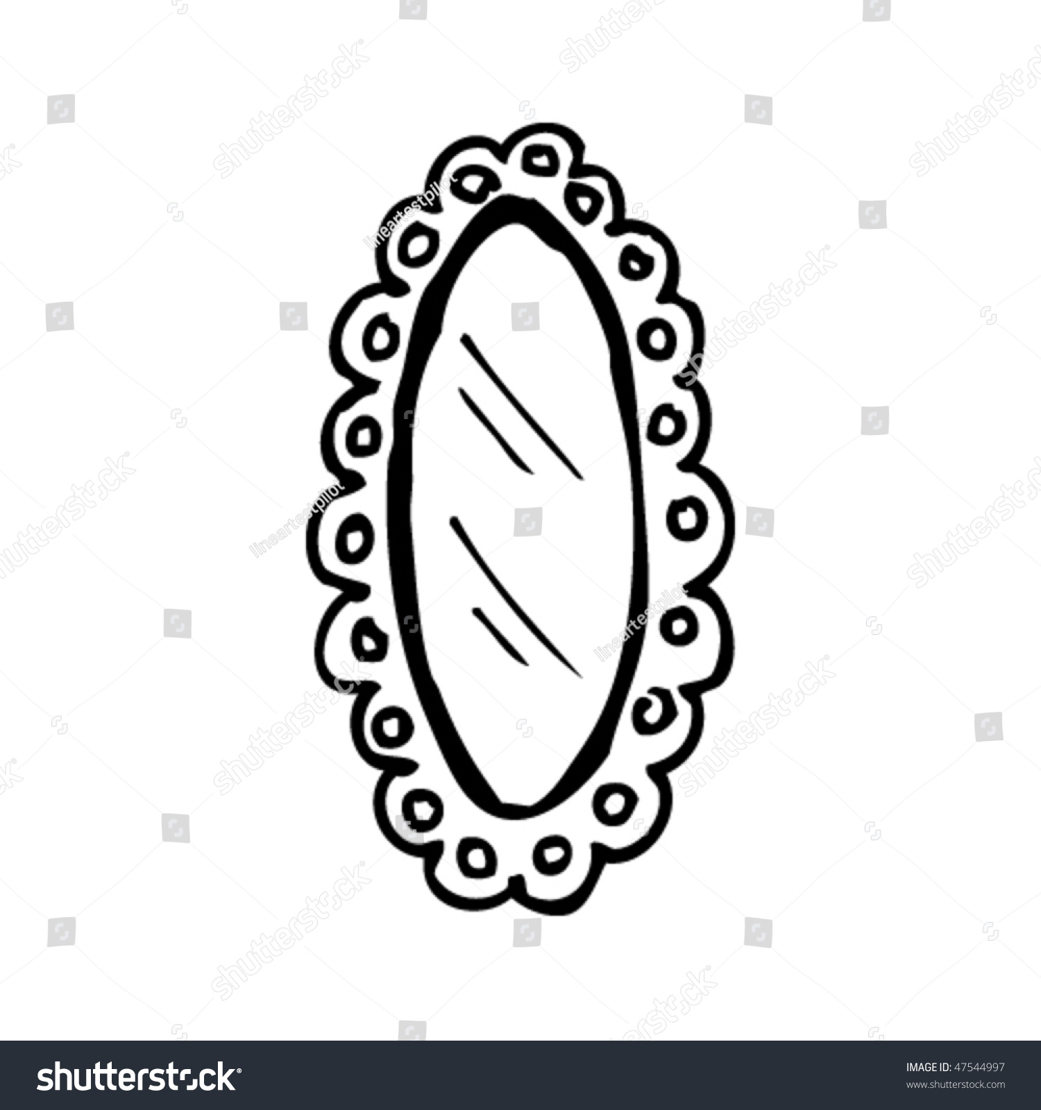 Drawing of a mirror stock vector illustration 47544997 for Mirror drawing