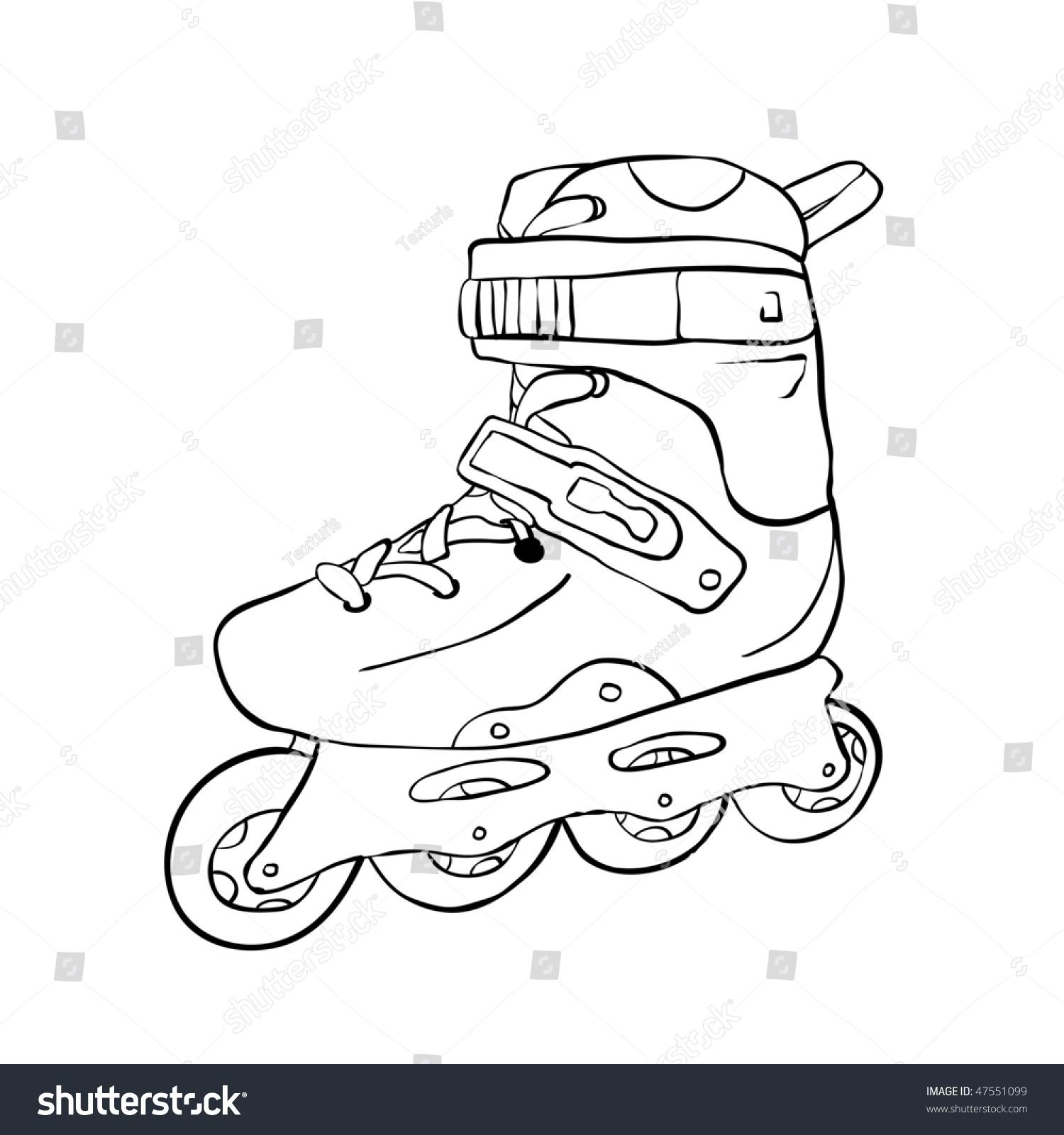 Roller skates book - Roller Skate Sketch Vector