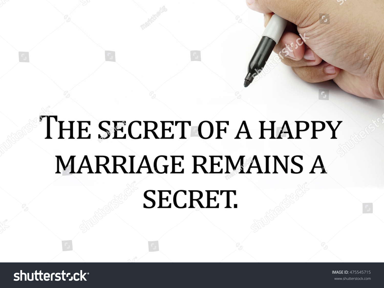 The Secret Quotes Conceptual Image Handwriting Quotes Secret Happy Stock Photo