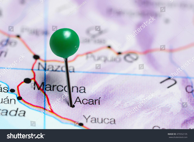 Acari Pinned On Map Peru Stock Photo (Edit Now) 475552135