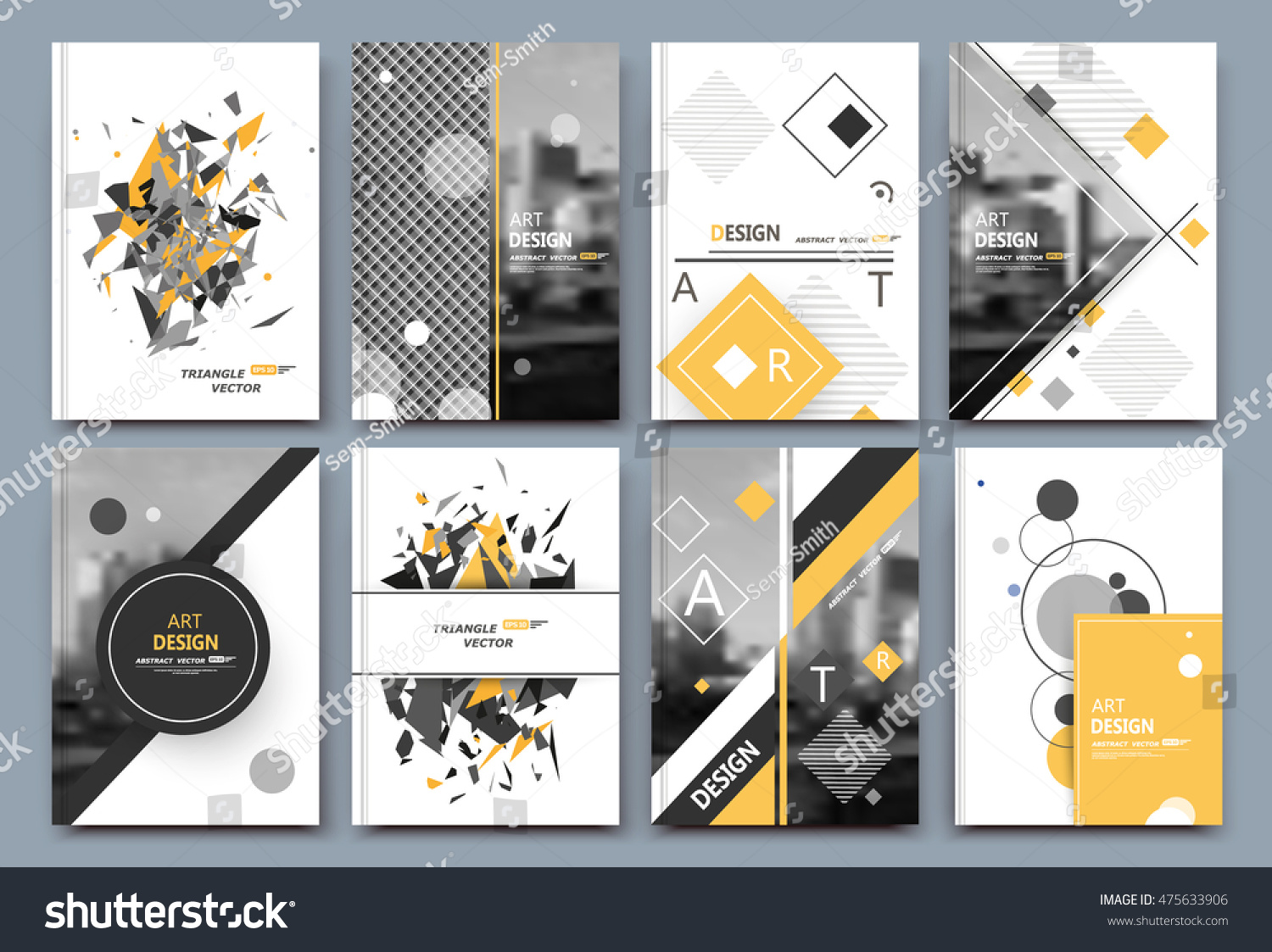 abstract a 4 brochure cover design text のベクター画像素材