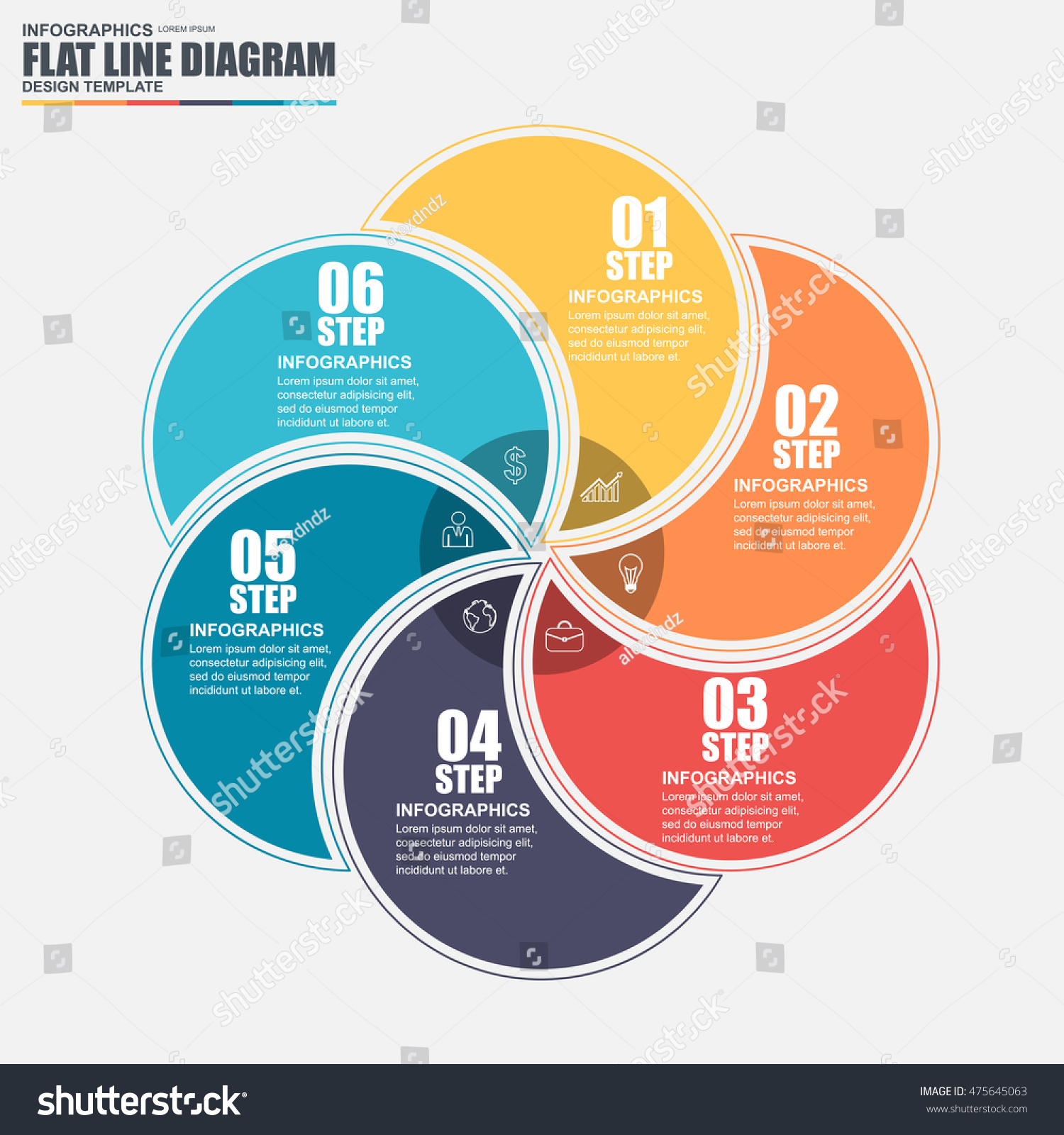 Thin Line Flat Cycle Diagram Infographic Stock Vector 475645063 ...