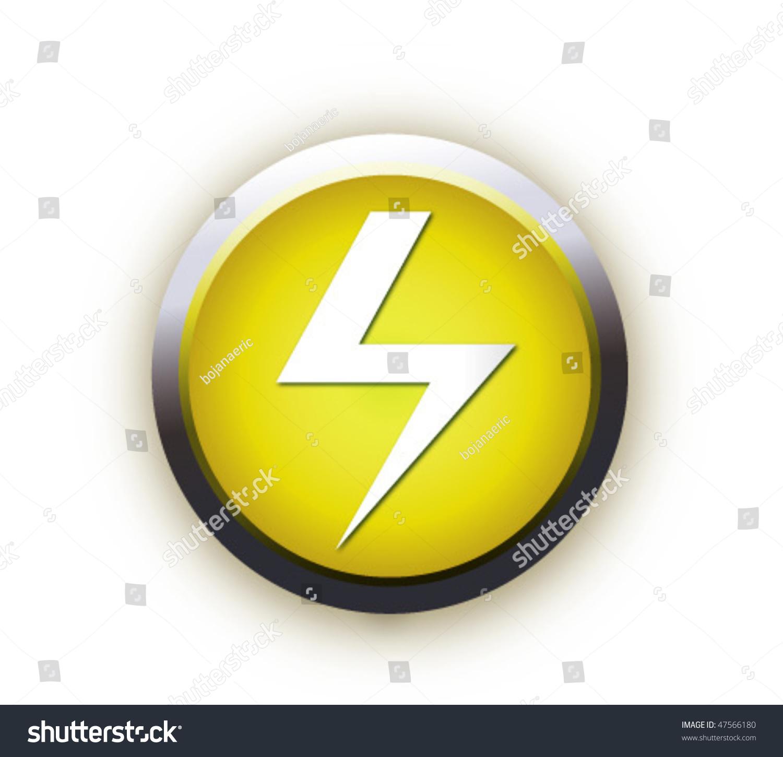 Button high voltage symbol stock vector 47566180 shutterstock button with high voltage symbol buycottarizona