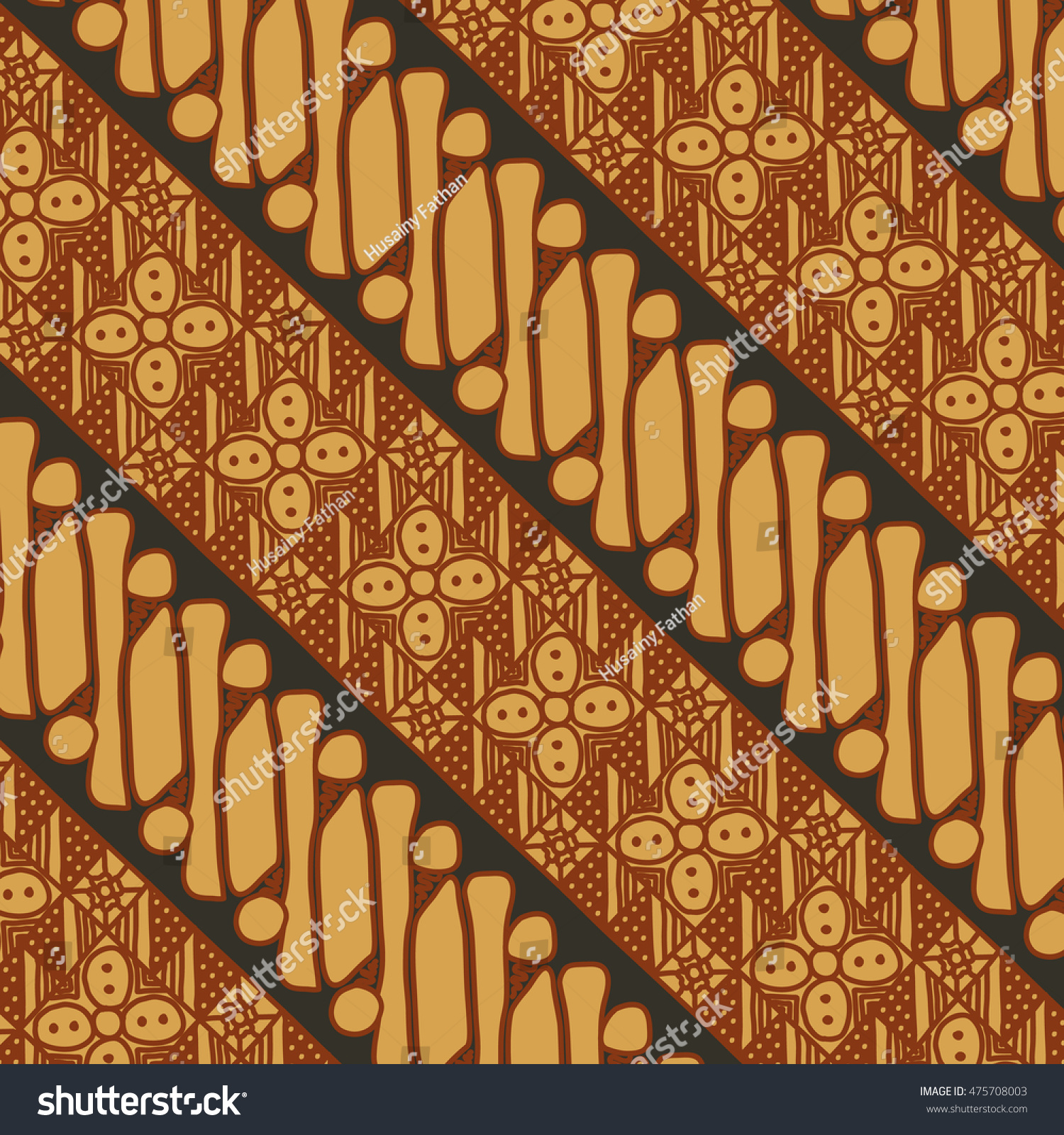 Vector Batik Pattern Indonesia Stock Vector 475708003