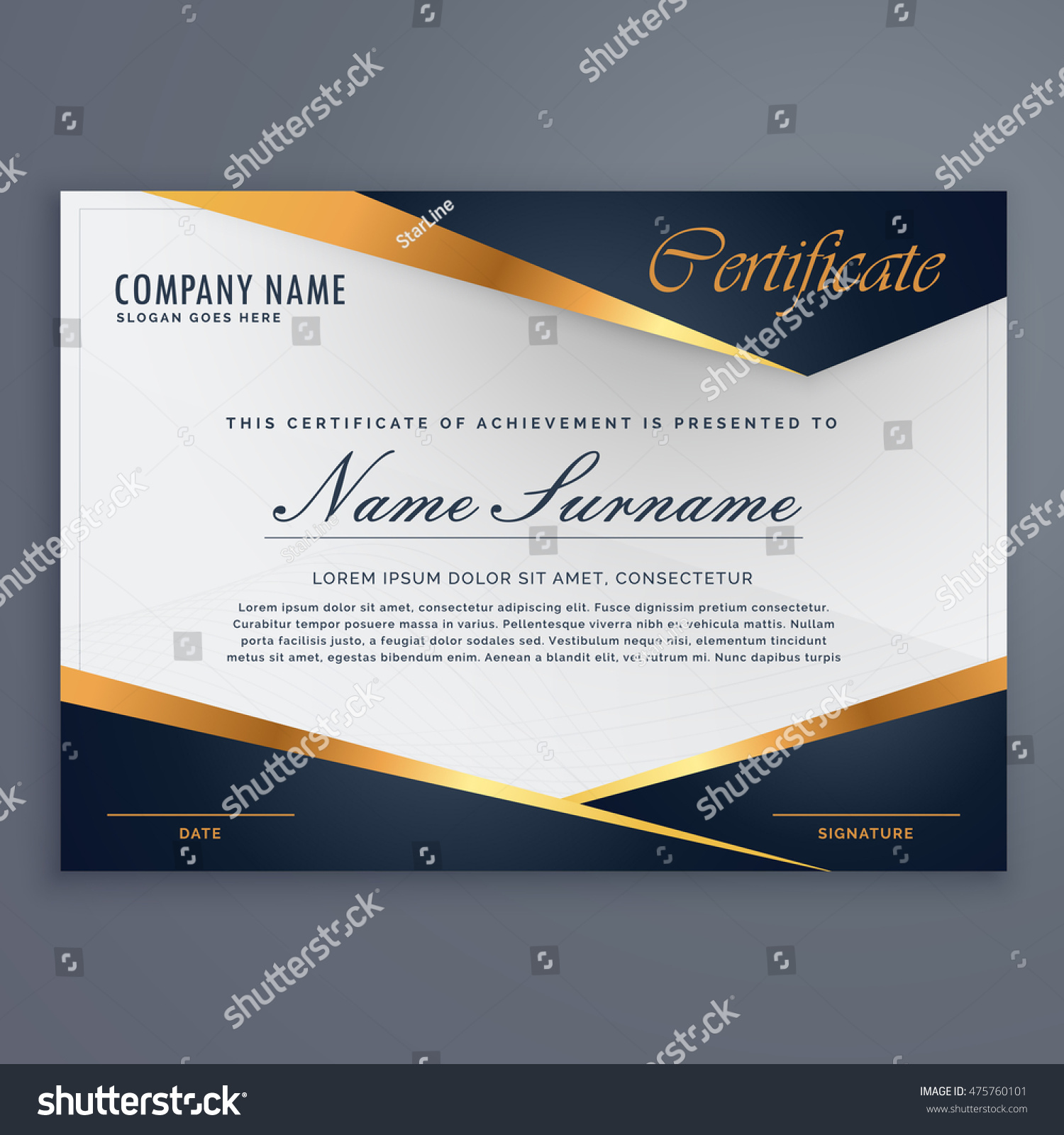 Premium diploma luxury certificate template stock vector hd royalty premium diploma luxury certificate template yelopaper Choice Image