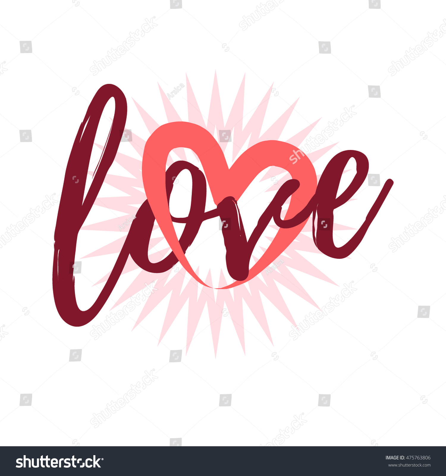 text love with heart vector love heart text for t shirt apparel