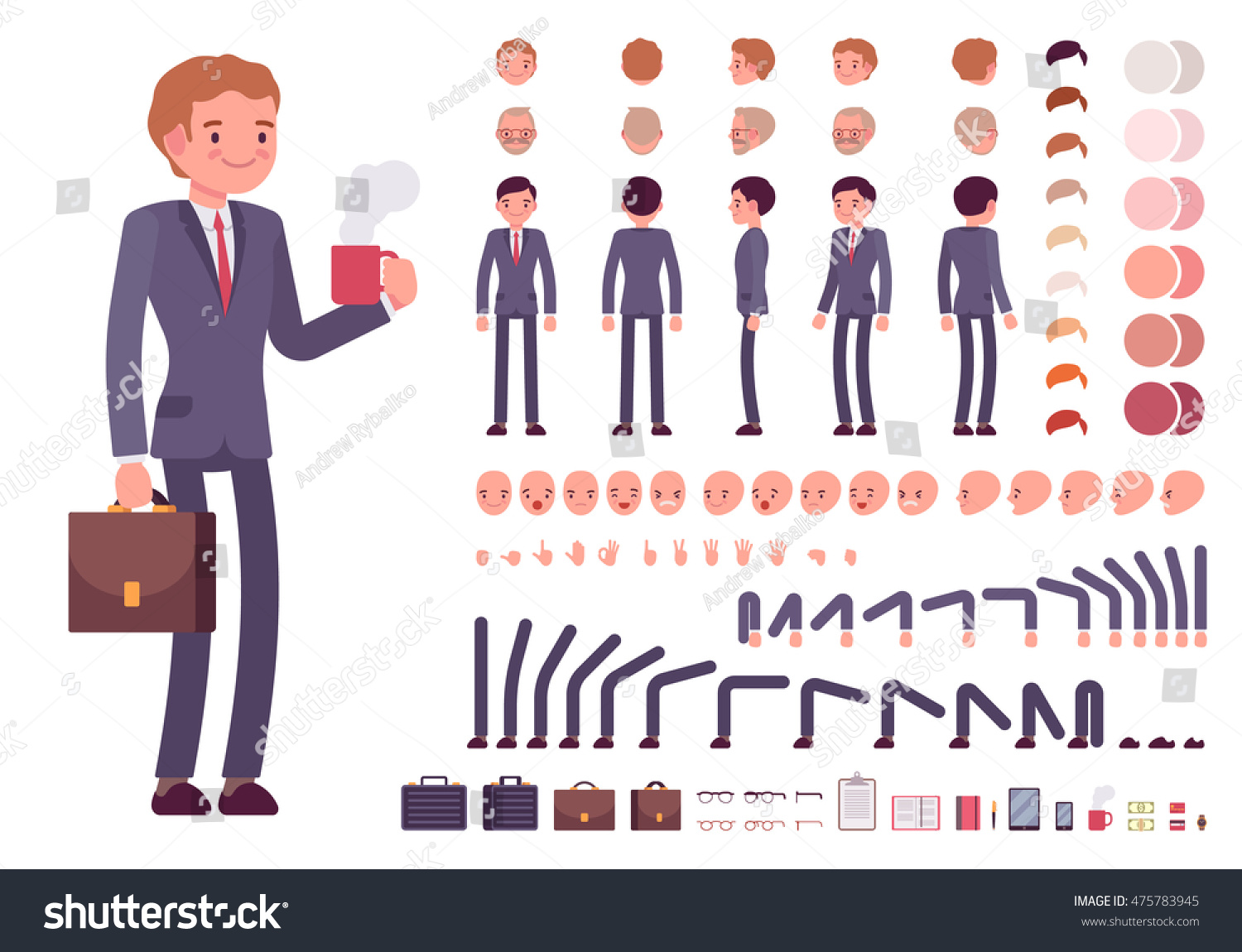 Ghiboocom Your Character And Style Businessman Character Creation Set Build Your
