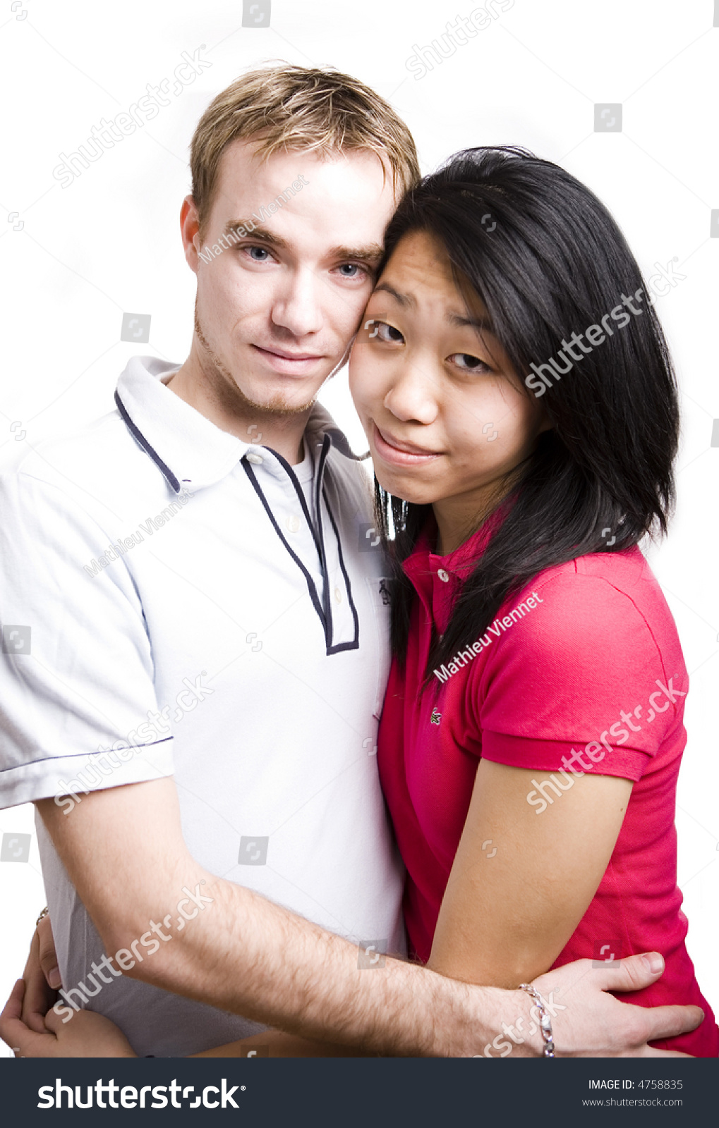 Interacial Classy young interacial couple picture series stock photo 4758835