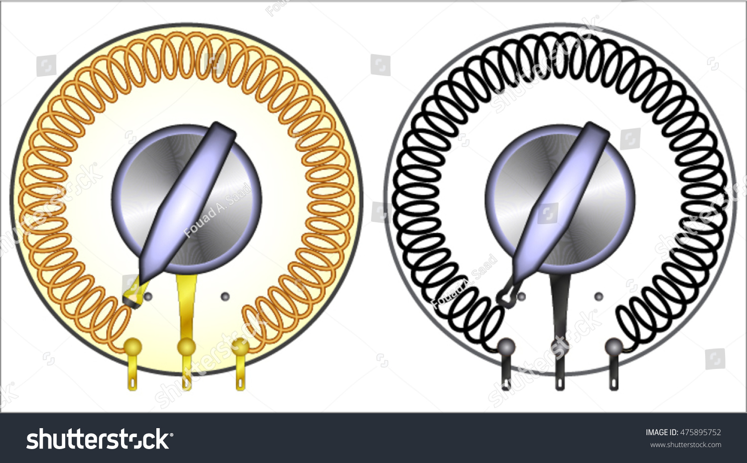 Variable Inductor Coil Stock Photo (Photo, Vector, Illustration ...