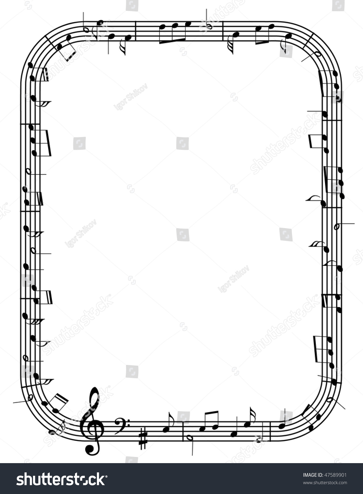 vector music notes frame - Music Picture Frame