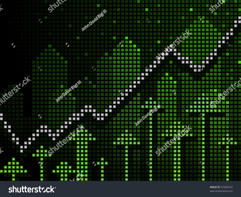 business chart ticker style green arrows stock vector 47604316