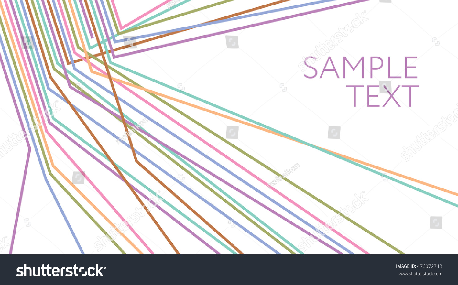 Multicolored Lines Abstract Background Electric Wire Stock Vector ...