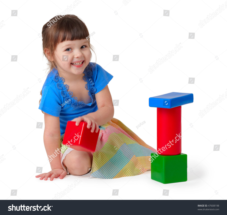 Kid Playing Toys Little Girl Dress Stock Shutterstock