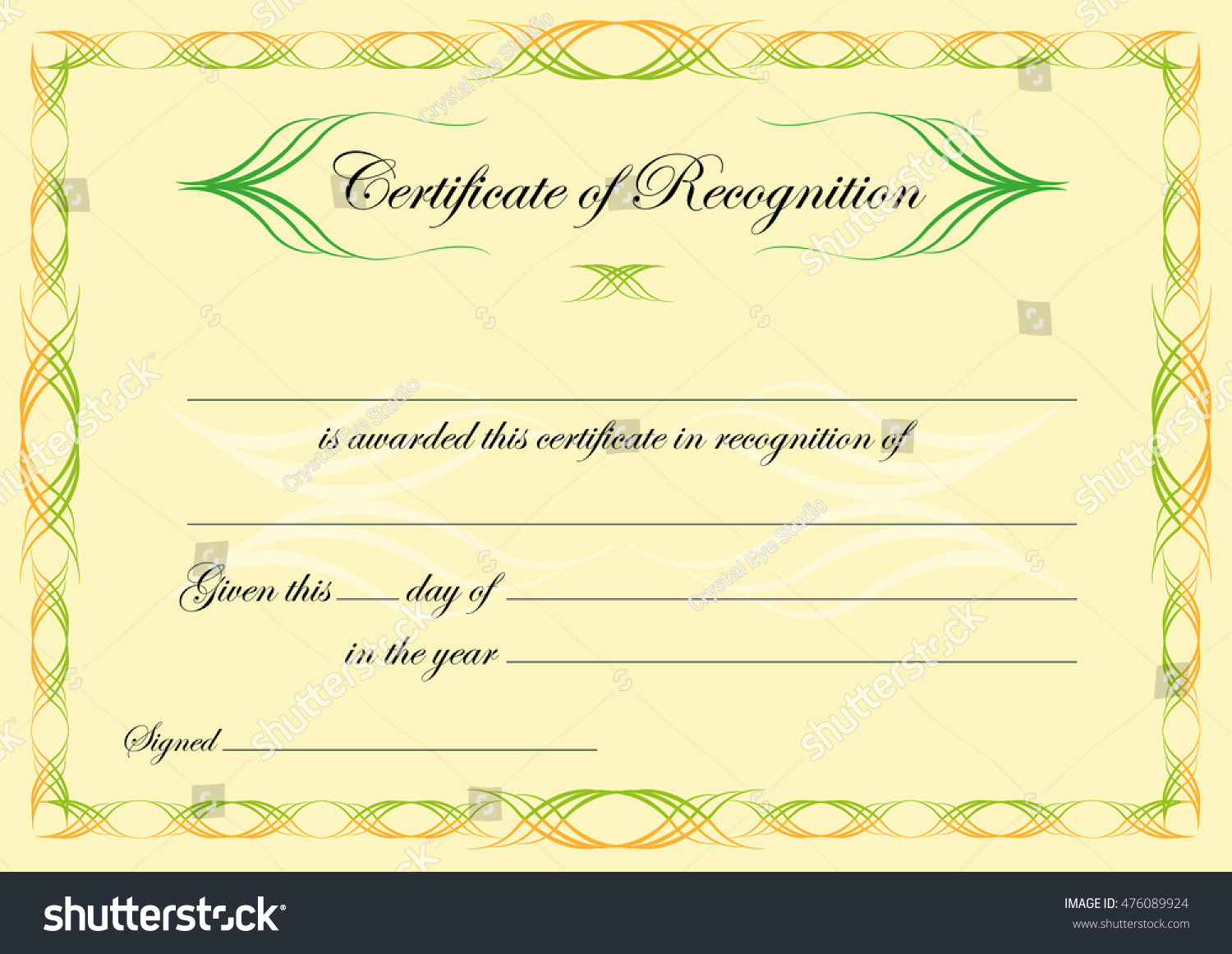 Certificate of recognition template drawing a floor plan island of certificate recognition template classical style swirls stock stock vector certificate of recognition template in classical style with swirls editable clip yadclub Images