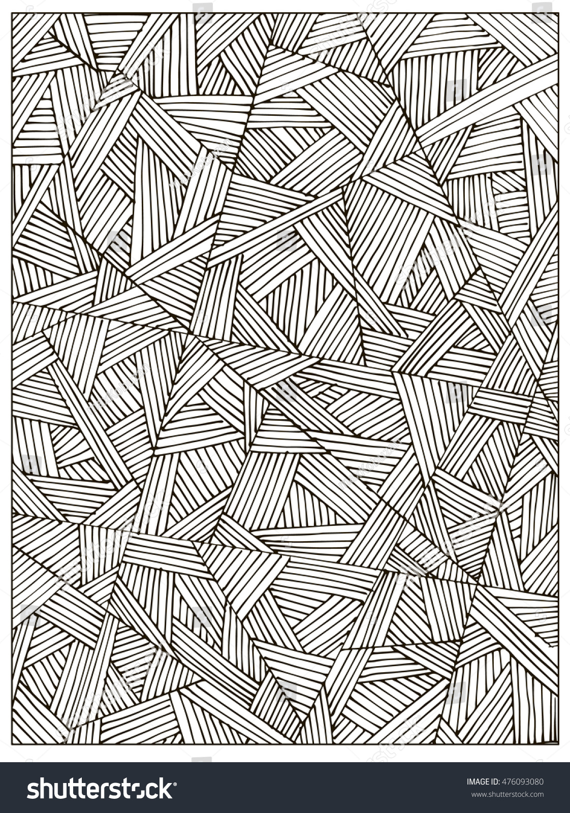 difficult uncolored coloring book page stock vector