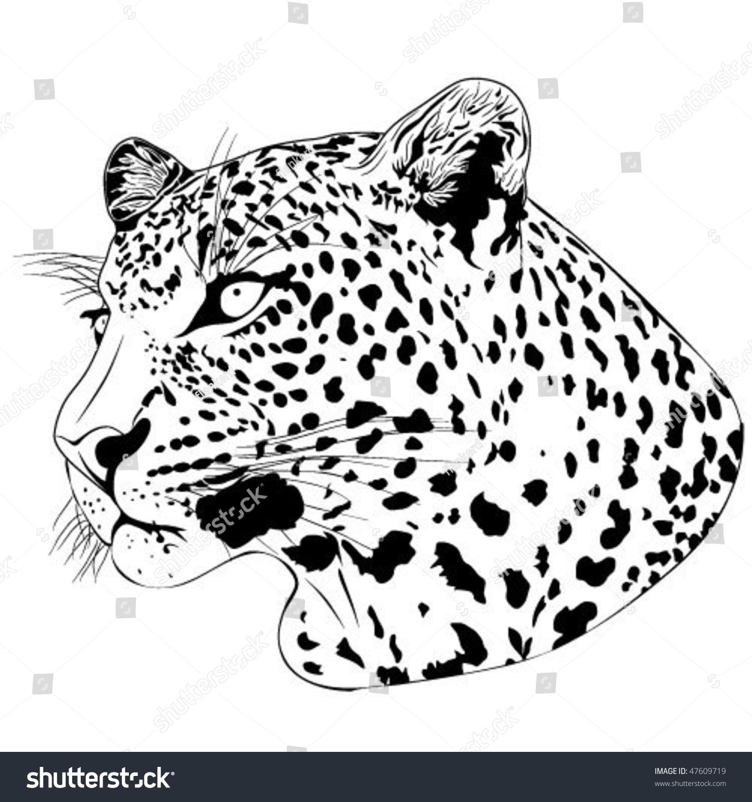 leopard tattoo stock vector 47609719 shutterstock Free Clip Art Animal Print Free Clip Art Zebra Print