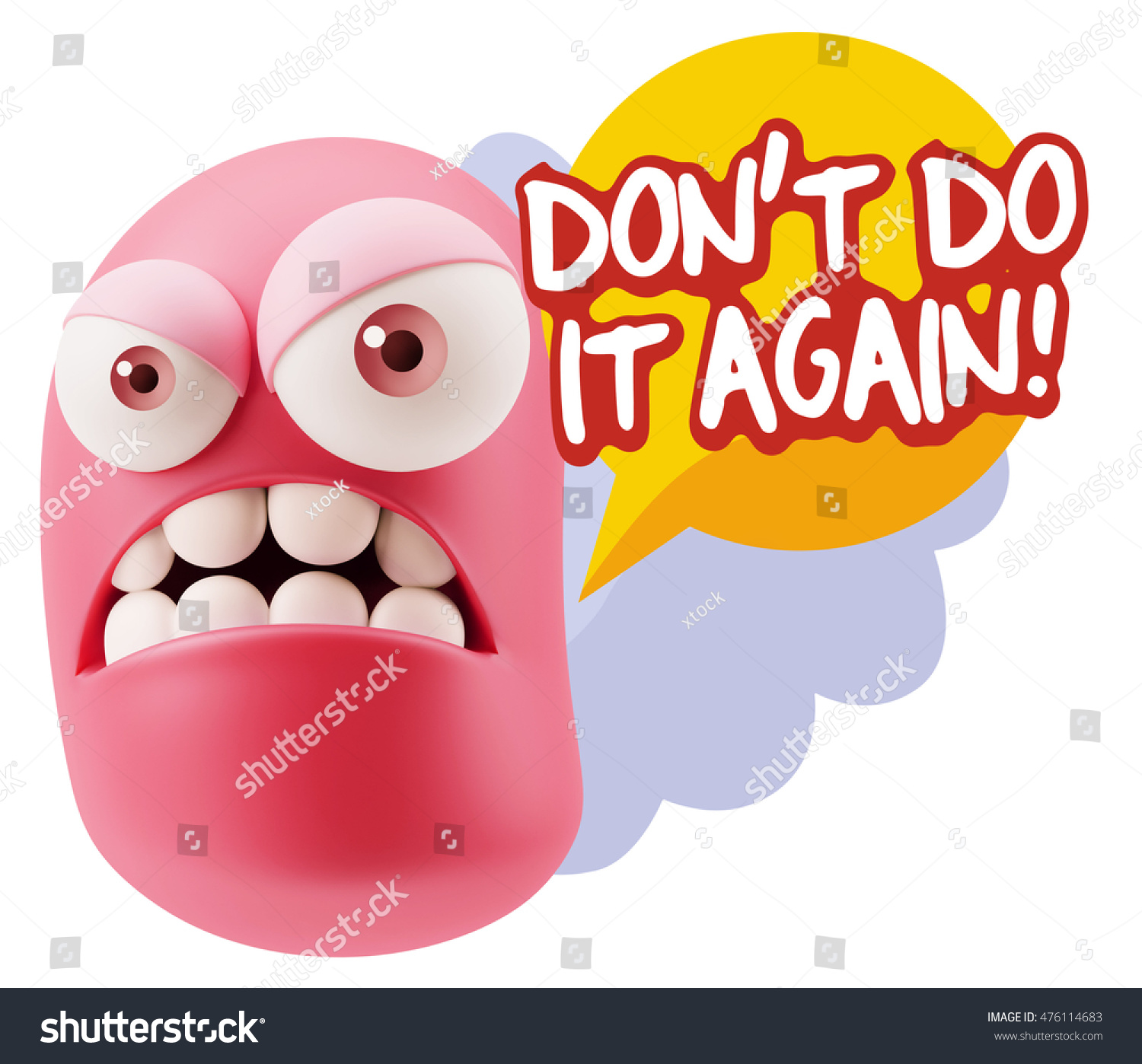 Royalty Free Stock Illustration Of 3 D Illustration Angry Face