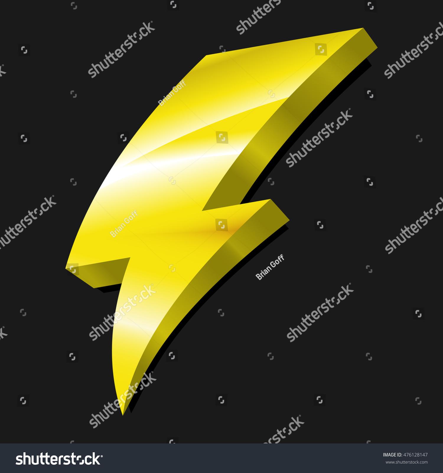 Electric Lightning Bolt Symbol Stock Illustration 476128147 ... for Electricity Lightning Bolt  146hul