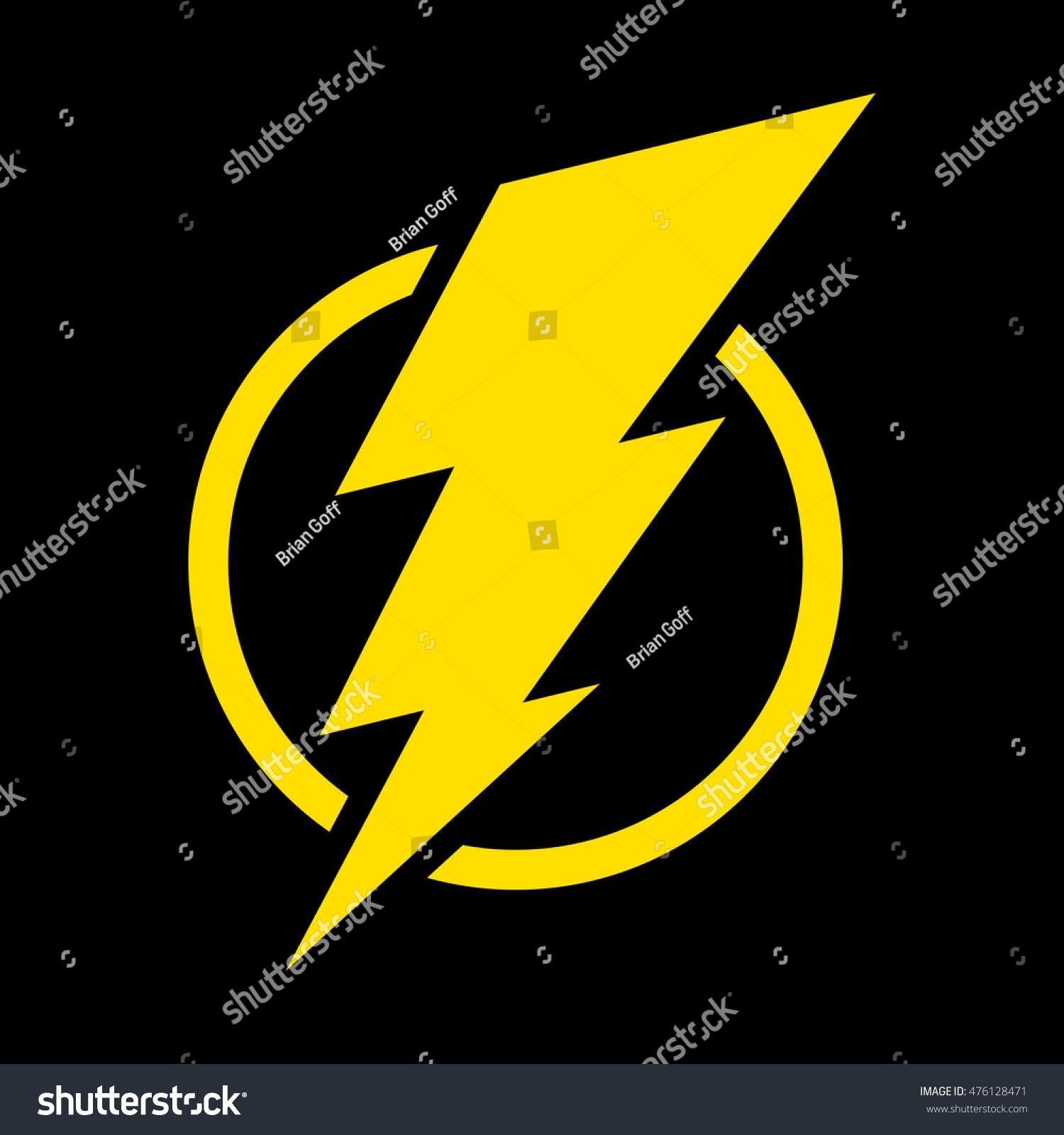 Electric Lightning Bolt Symbol Stock Illustration 476128471 ... for Electricity Lightning Bolt  146hul