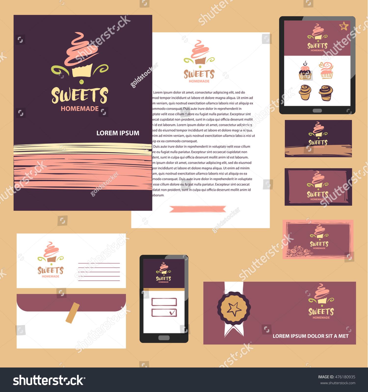 Cake Sweet Shop Logo Homemade Dessert Stock Vector 476180935 ...