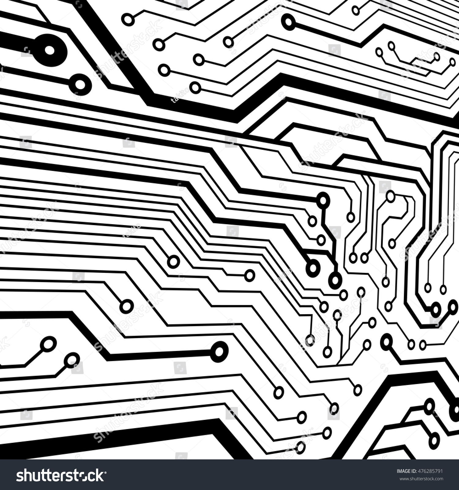 Vector Circuit Board Illustration Stock Royalty Free