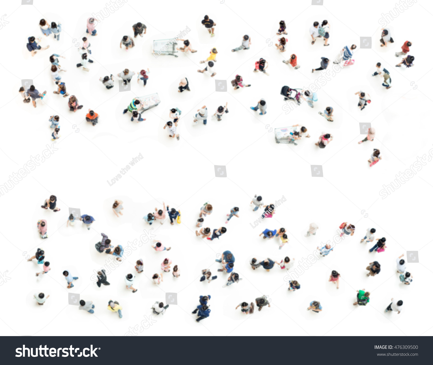 Crowd People Blurred On White Background Stock Photo (100% Legal ... for Crowd Of People Top View Png  300lyp