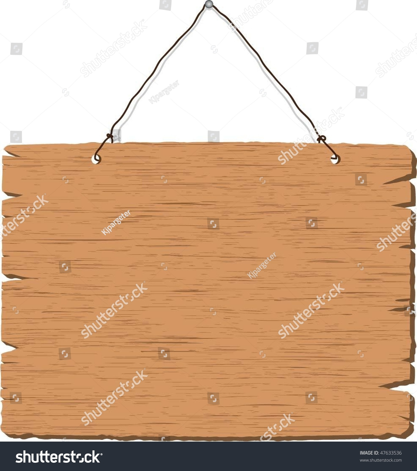 hanging wooden sign stock vector illustration 47633536