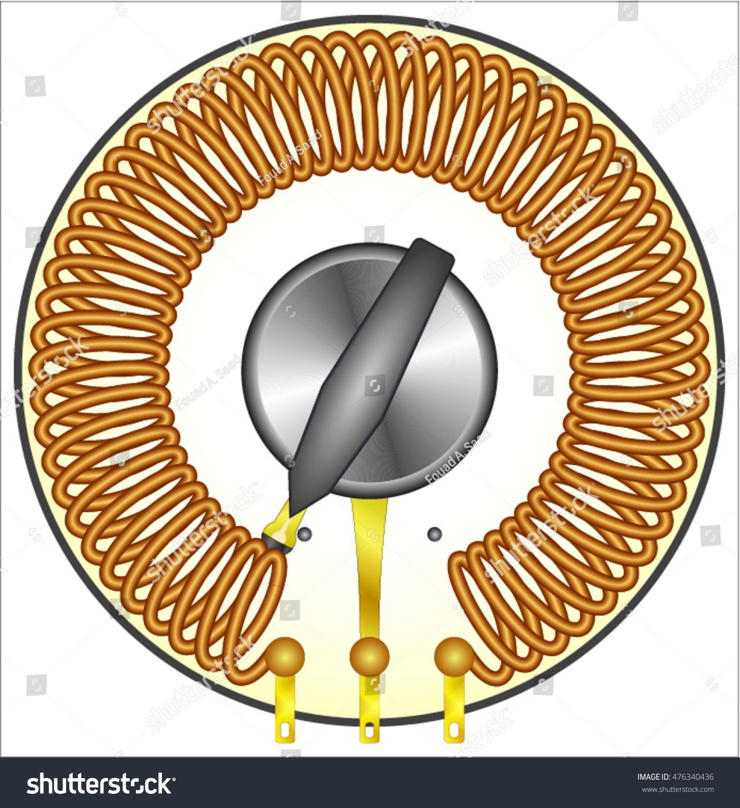 Variable Inductor Coil Air Core Stock Vector 476340436 - Shutterstock