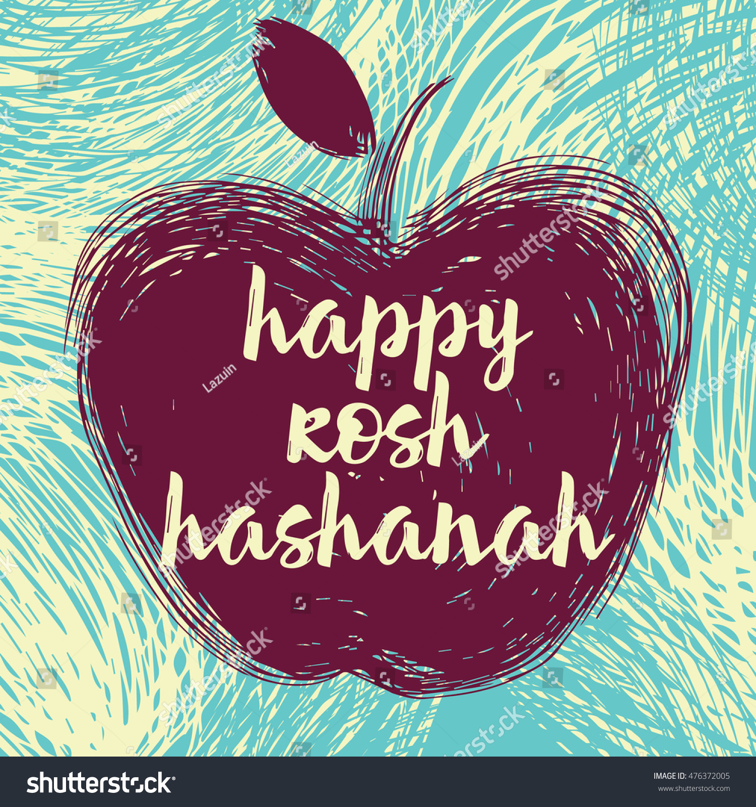Greeting card wiyh symbol rosh hashanah stock vector 476372005 greeting card wiyh symbol of rosh hashanah apple jewish new year celebration design kristyandbryce Choice Image
