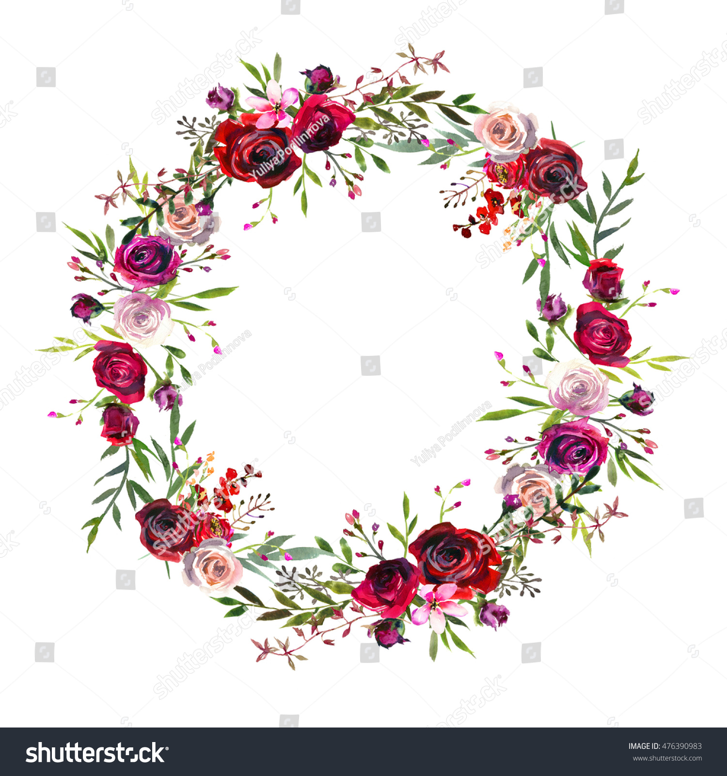 1000 Burgundy Flower Wreath Stock Images Photos Vectors