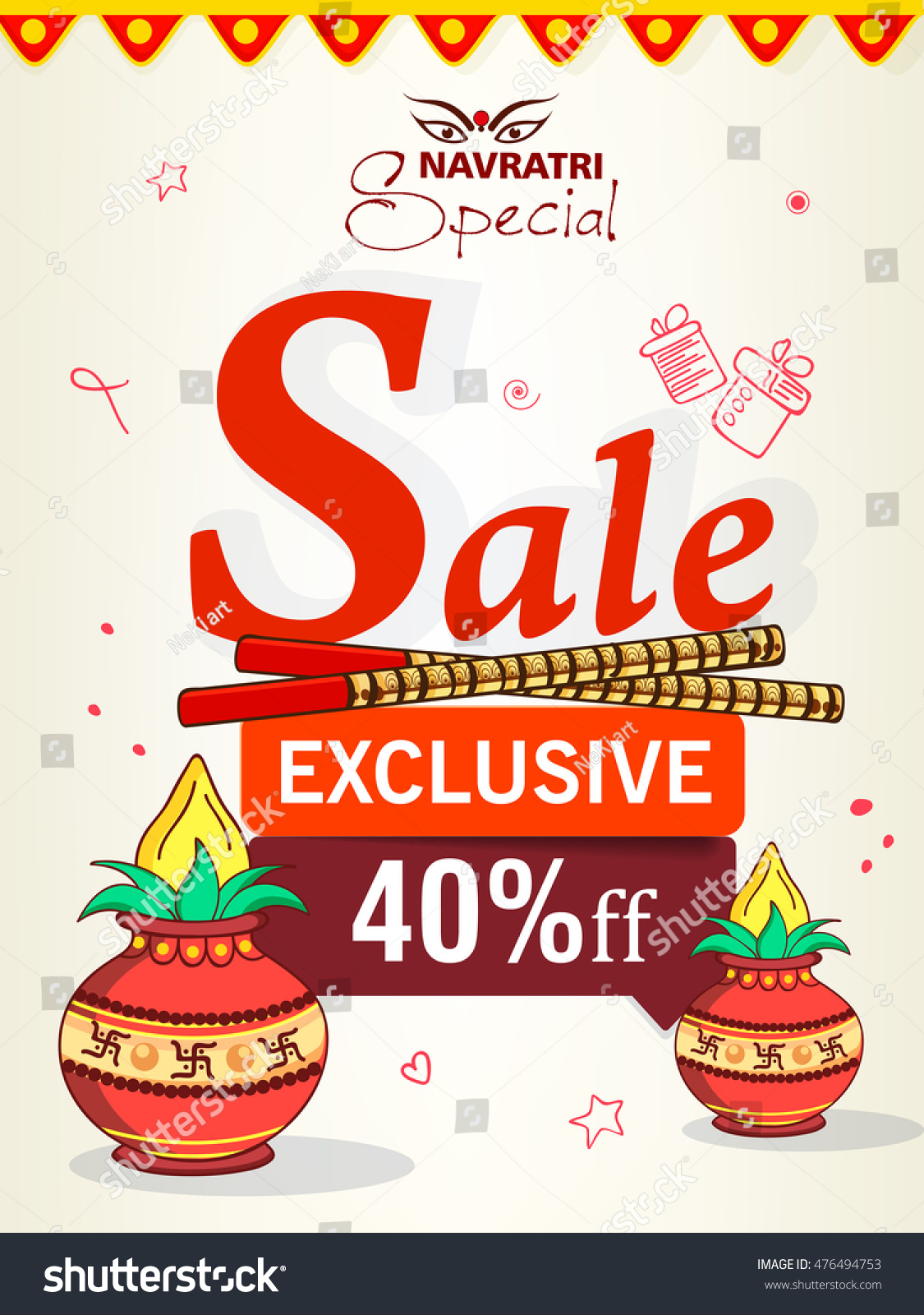 flyer banner poster design offer stock vector 476494753 flyer banner or poster design for offer tags on the occassion of hindu