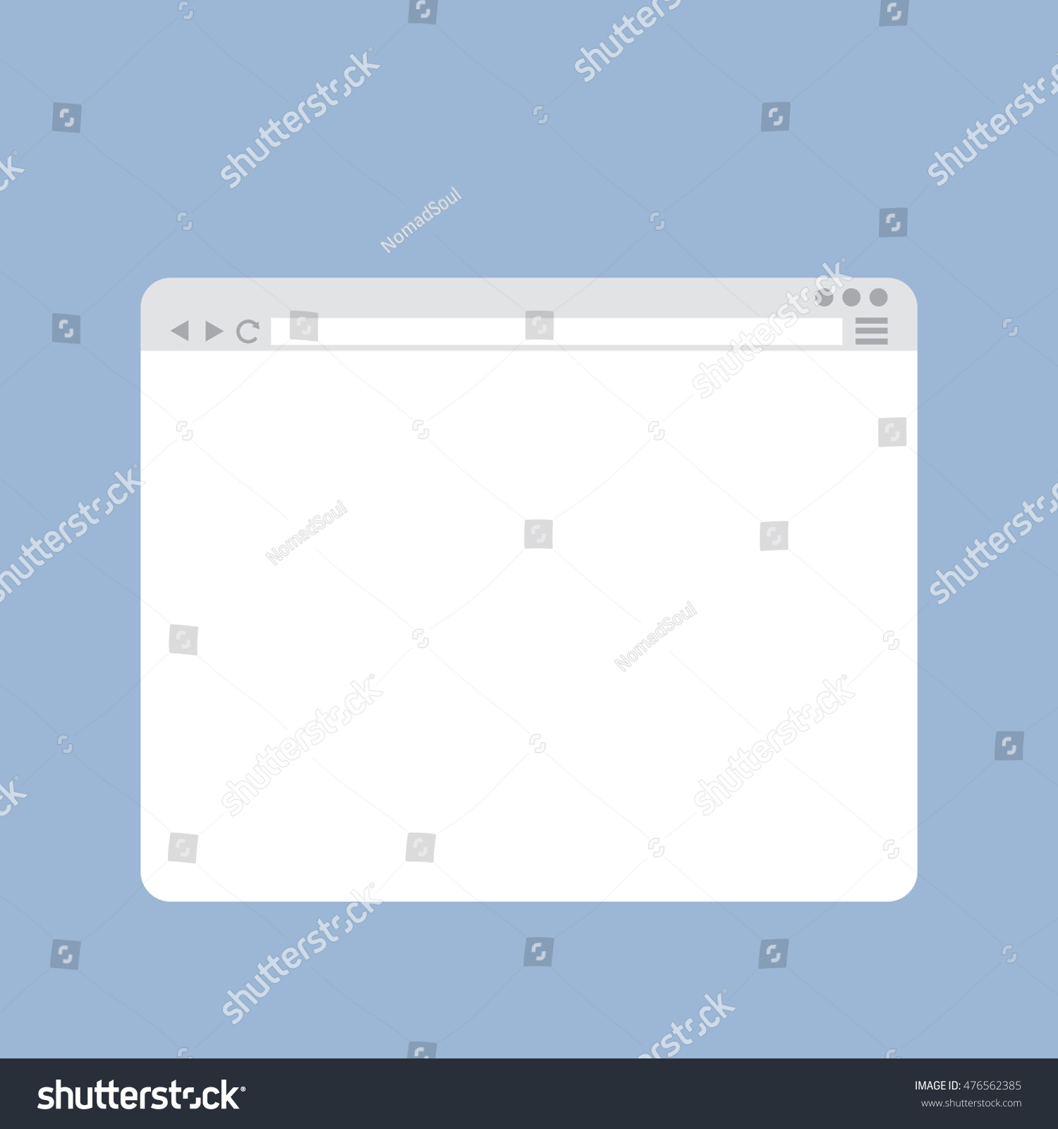 Internet browser window template flat style design stock for Window design template