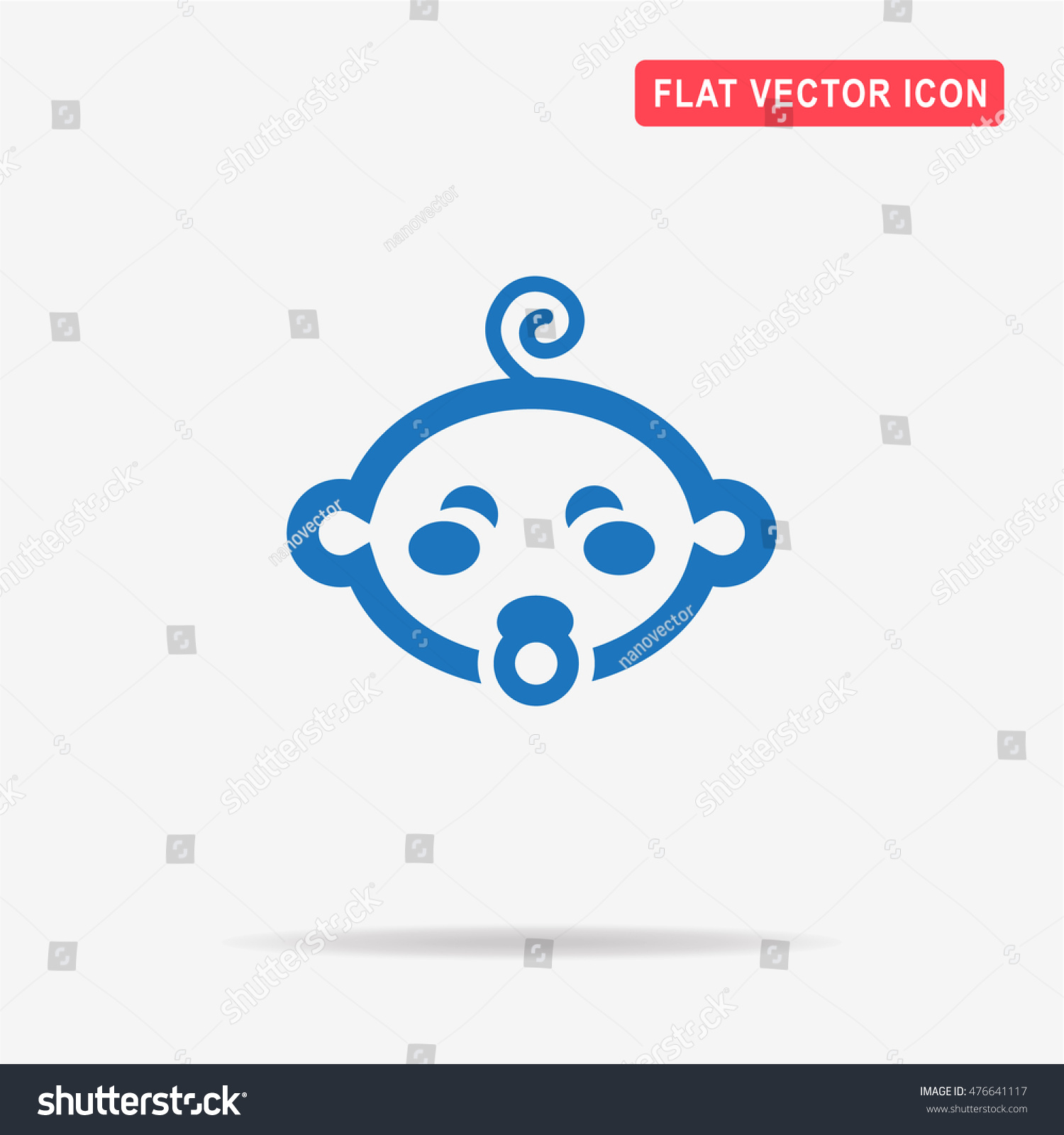 Baby boy icon vector concept illustration stock vector 476641117 baby boy icon vector concept illustration for design biocorpaavc Images
