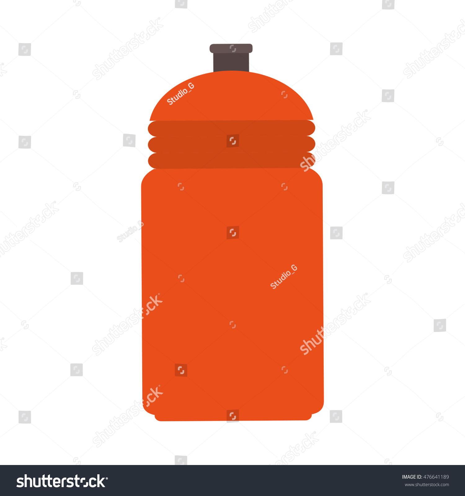 Water Bottle Vector: Water Bottle Sport Container Drink Liquid Stock Vector