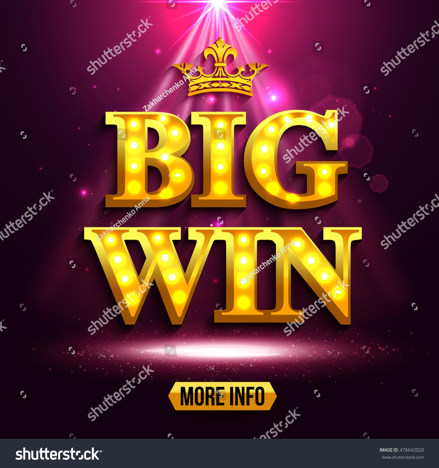 Big Win Background Online Casino Gambling Stock Vector Royalty Free 476642020
