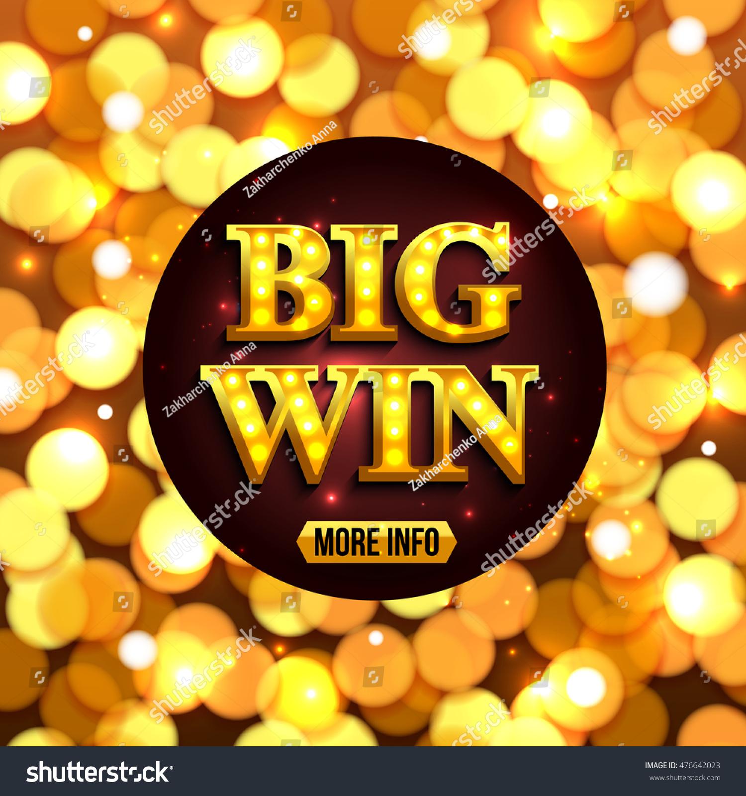 Big Win Background Online Casino Gambling Stock Vector Royalty Free 476642023
