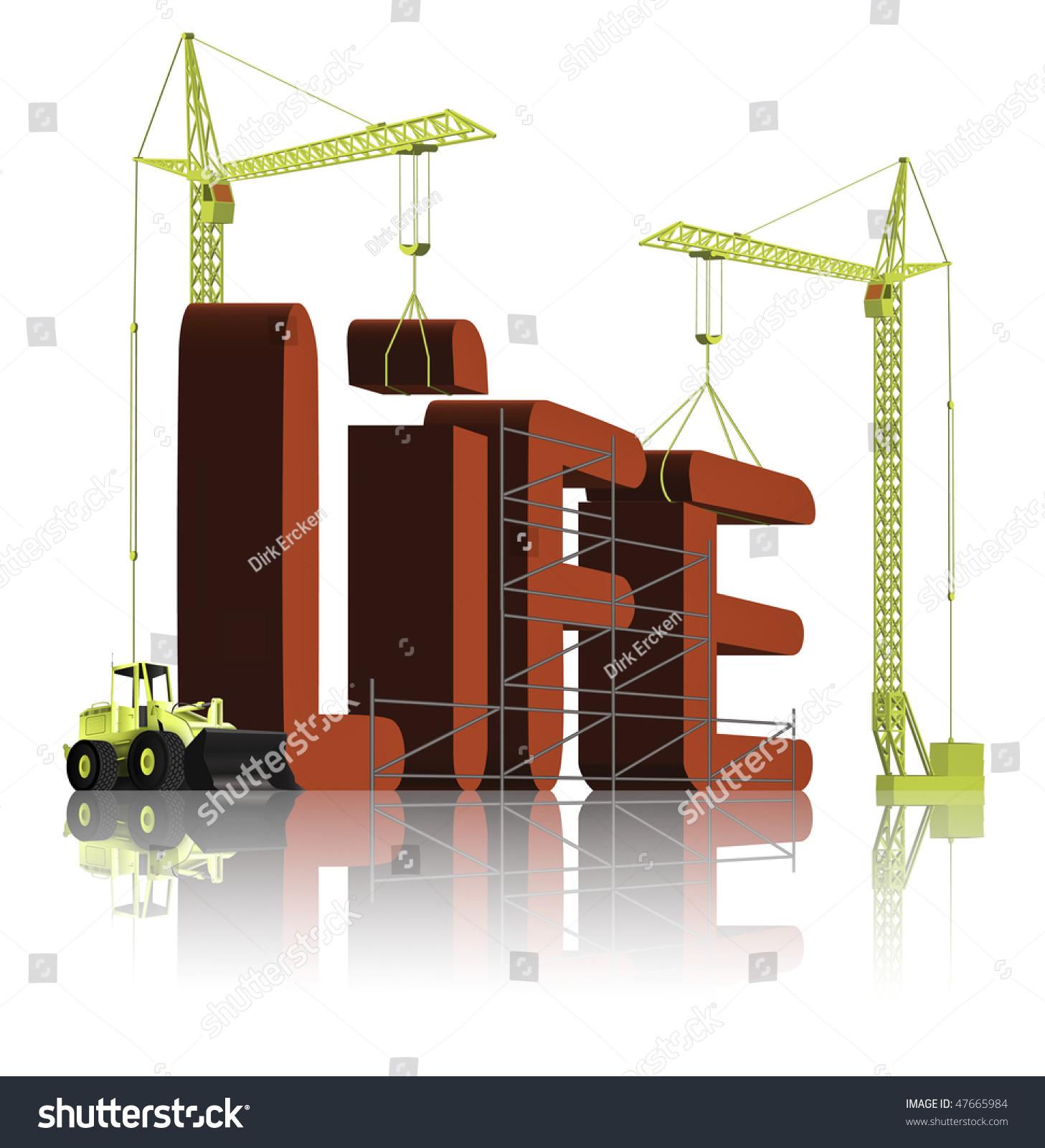 build your life get job career stock illustration 47665984 build your life get a job a career a family a hobby enjoy