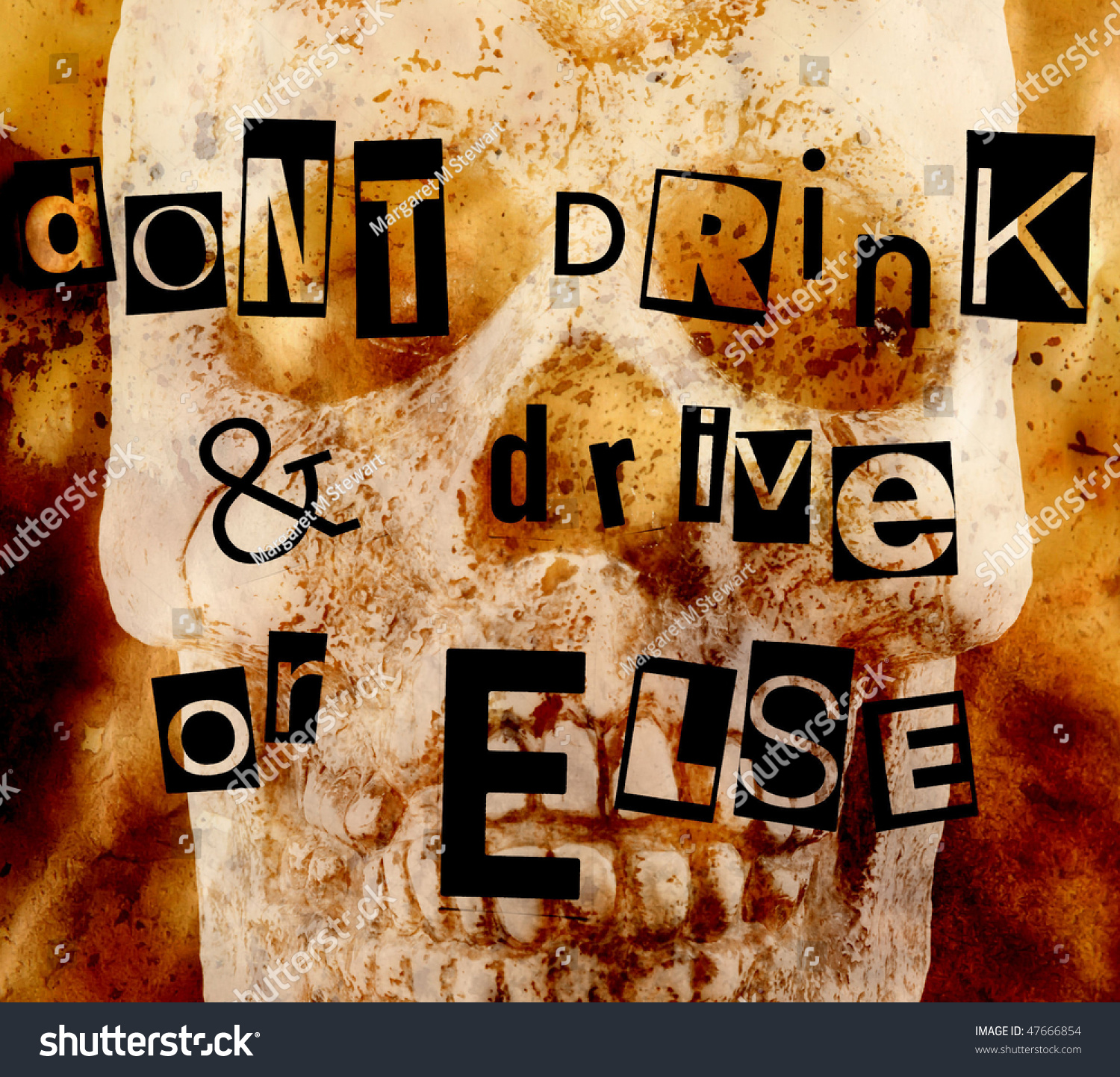 Don U0026 39 T Drink And Drive Or Else Stock Photo 47666854