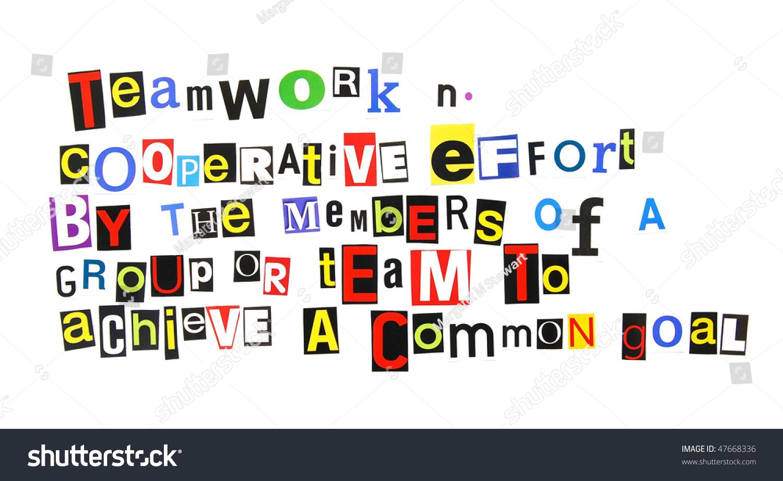 Definition Teamwork Stock Photo 47668336